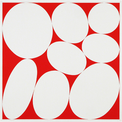 Cary Smith, Ovals #17 (red), 2013